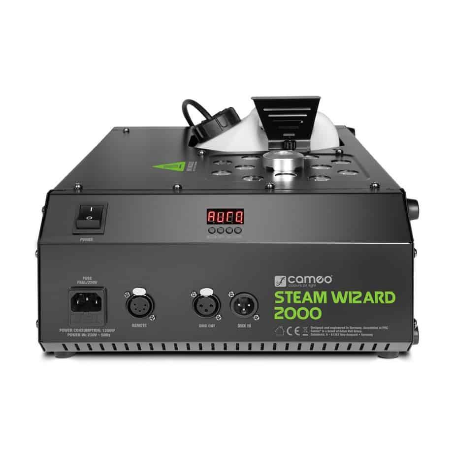 Cameo Steam Wizard 2000 røykmaskin sett fra over