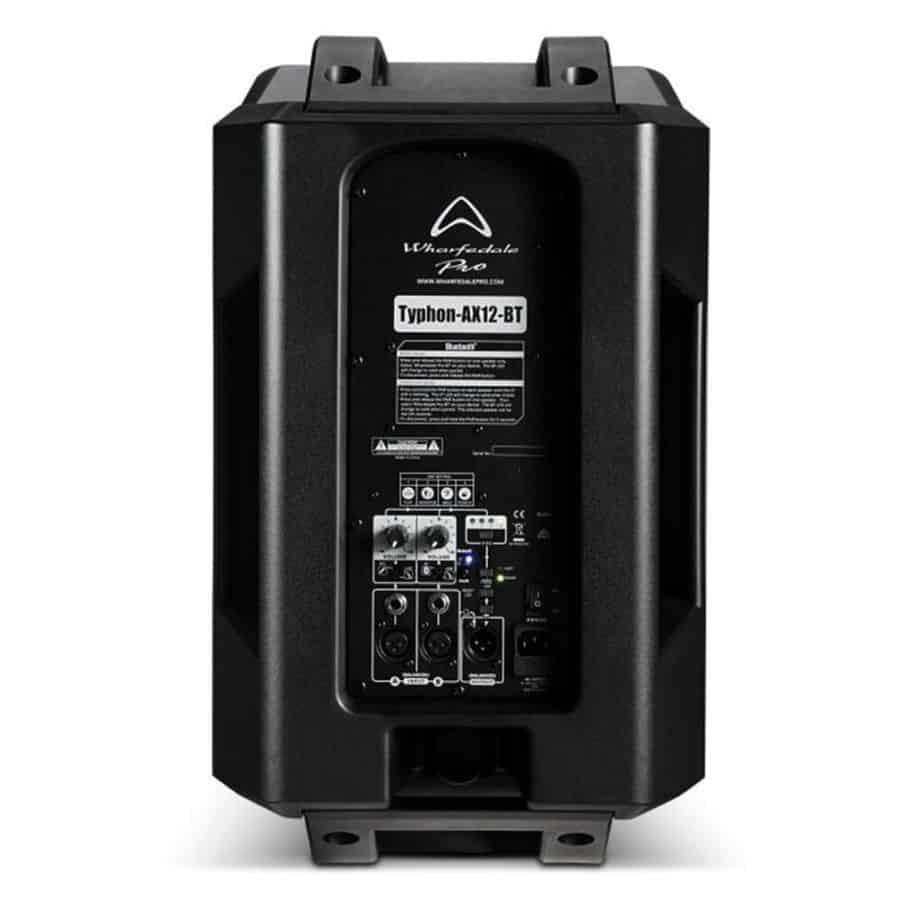 Wharfedale Pro Typhon-AX12BT aktiv høyttaler sett bakfra