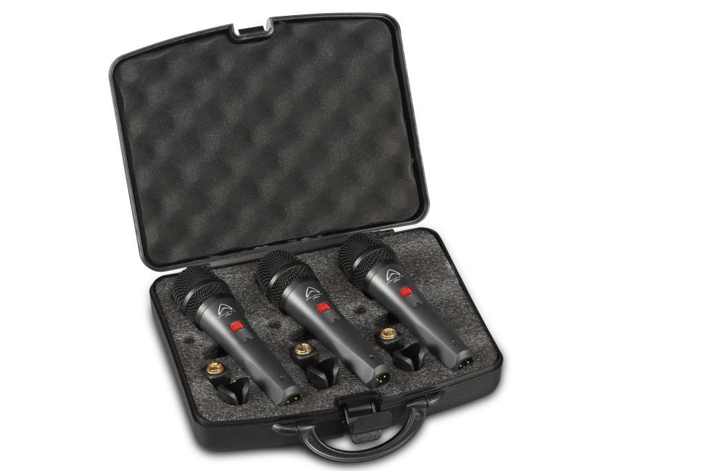 Wharfedale Pro DM5S vokalmikrofoner sett i koffert