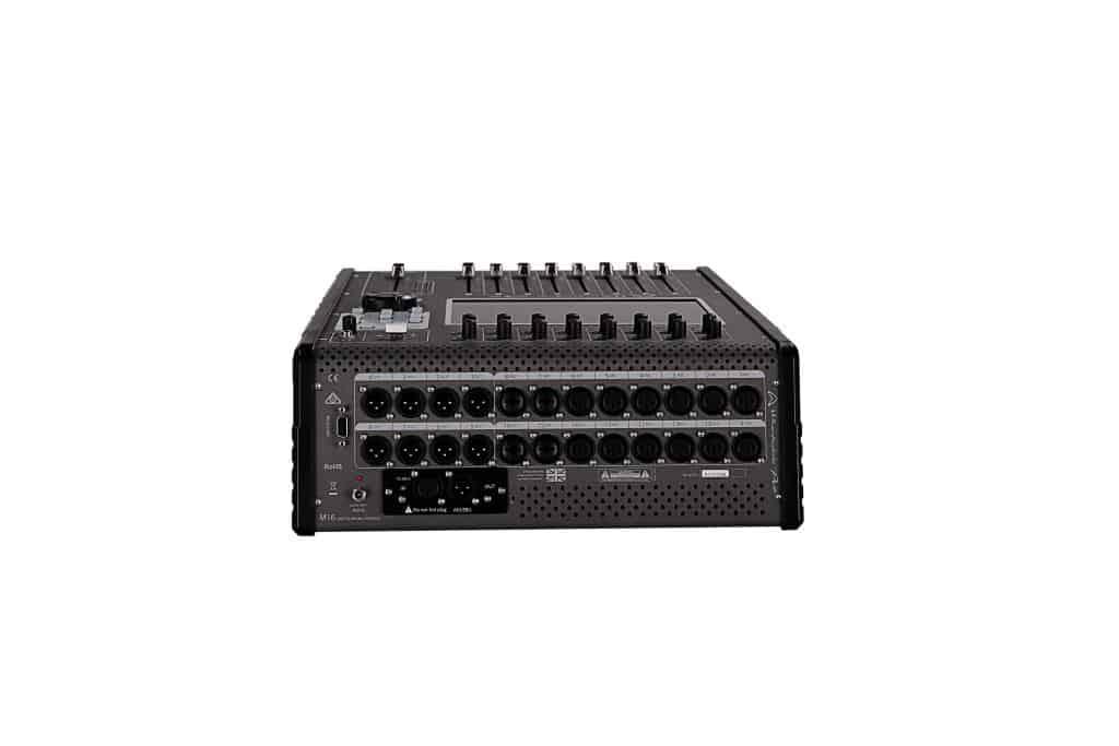 Wharfedale Pro M16 digital lydmikser sett bakfra