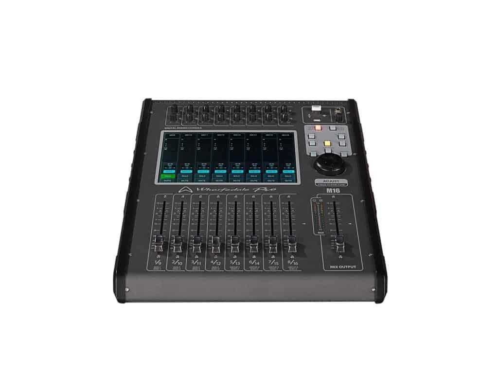 Wharfedale Pro M16 digital lydmikser sett forfra