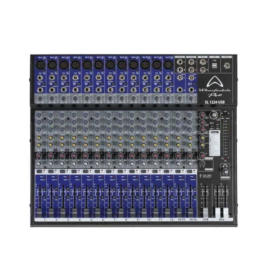 Wharfedale Pro SL 1224USB lydmikser sett forfra