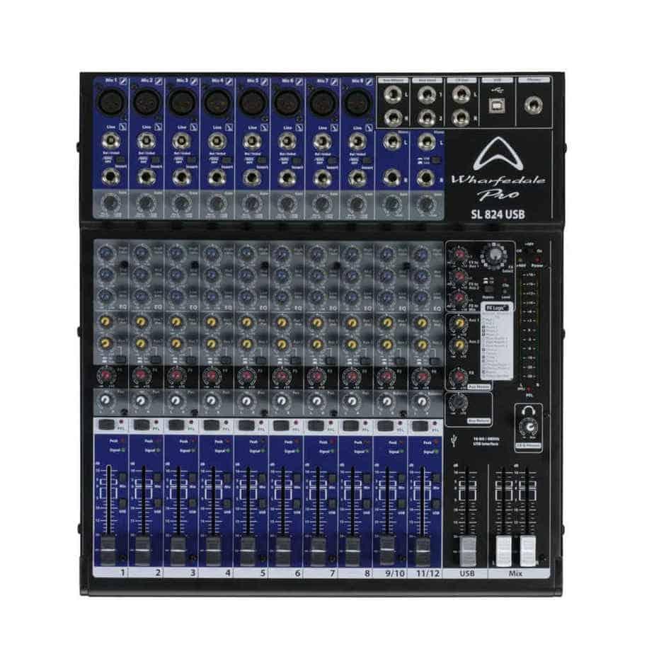 Wharfedale Pro SL 824USB lydmikser sett forfra