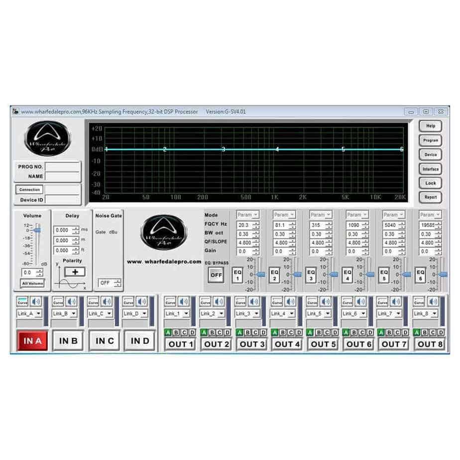 Wharfedale Pro Versadrive SC-26 høyttalerprosessor programvare