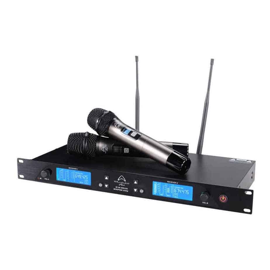 Wharfedale Pro WF300 trådløs mikrofonsett sett forfra