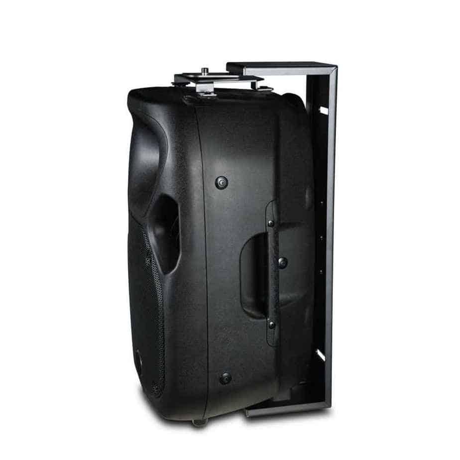 Wharfedale Pro WPB-T12 høyttalerbrakett sort festet i høyttaler