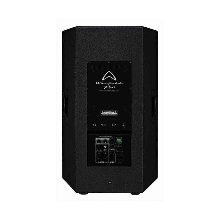 Wharfedale Pro Delta-AX12 aktiv høyttaler sort sett bakfra