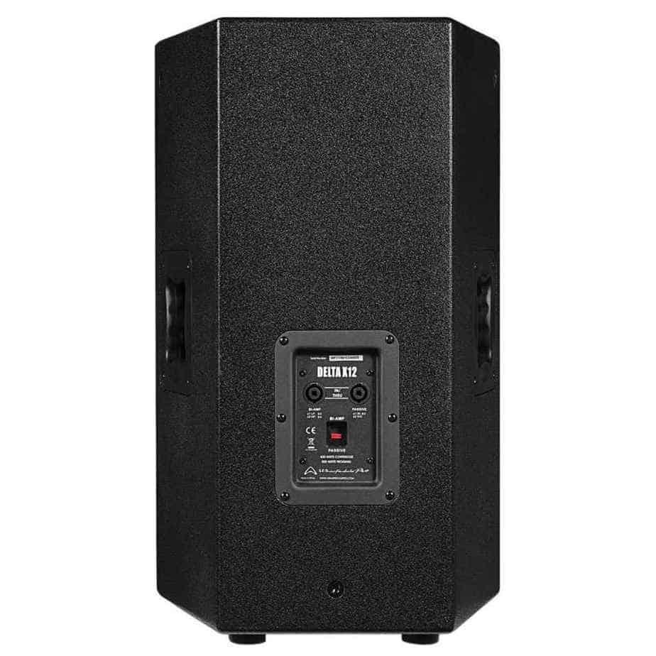 Wharfedale Pro Delta X12 passiv høyttaler sort sett bakfra