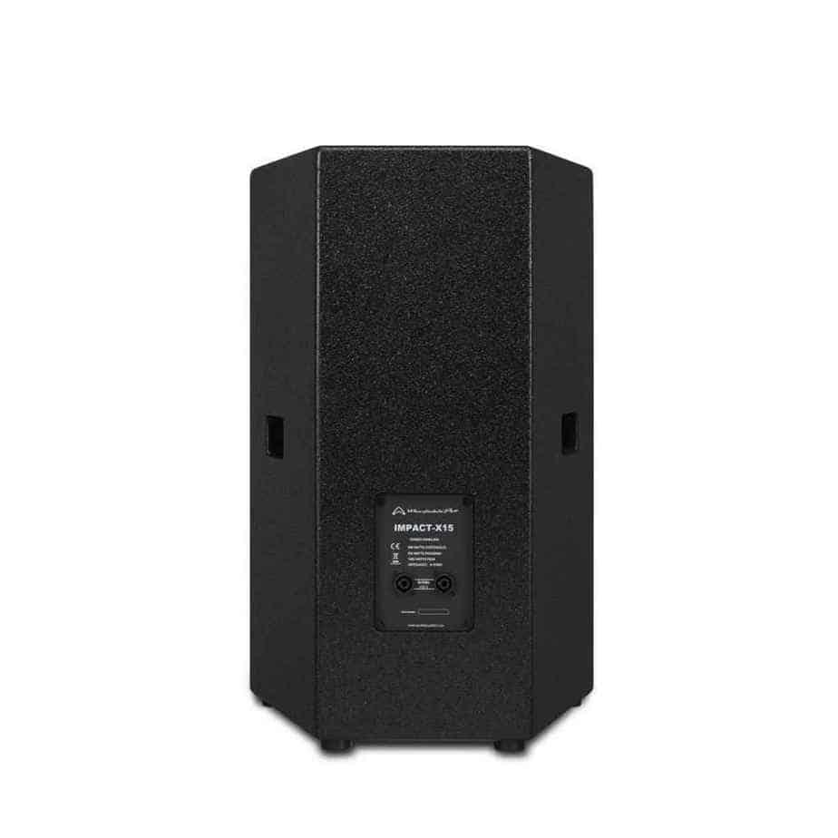 Wharfedale Pro Impact X15 passiv høyttaler sort sett bakfra