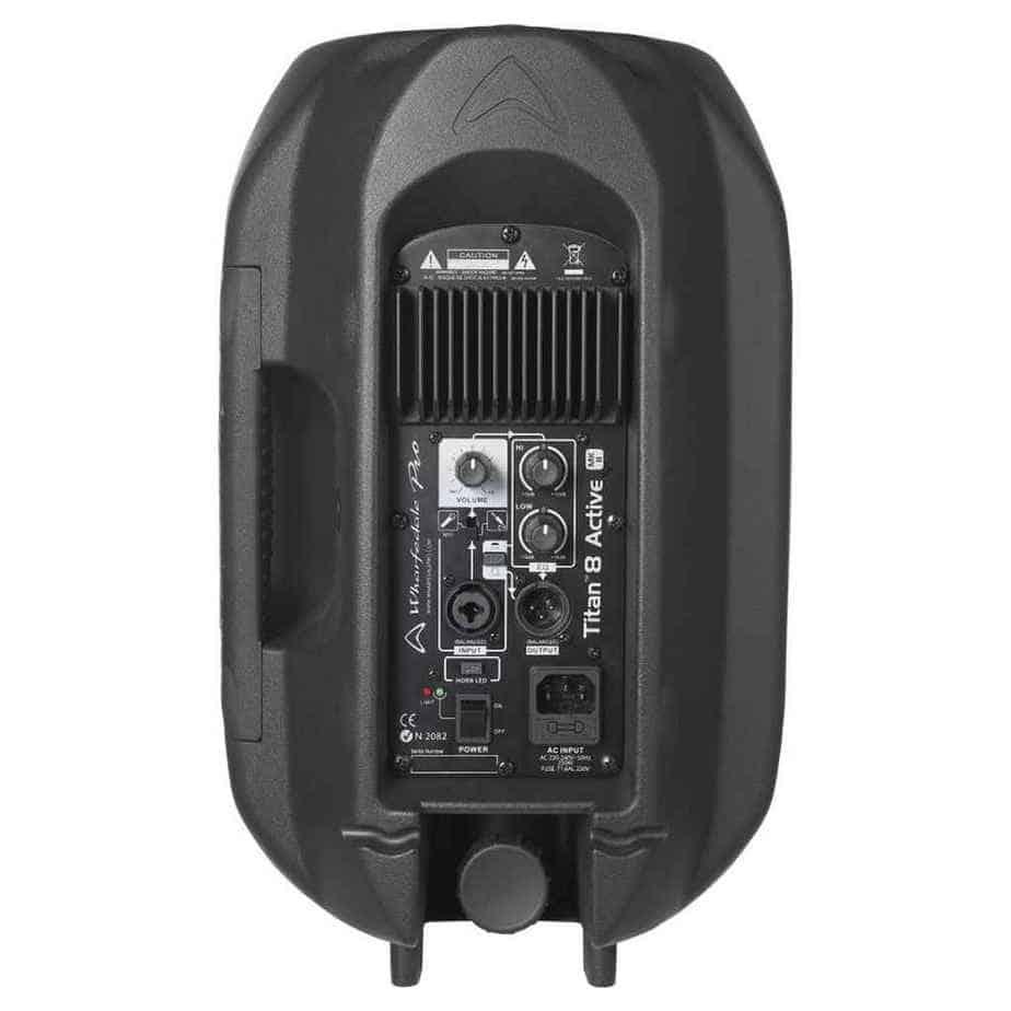 Wharfedale Pro Titan 8A MK II aktiv høyttaler sort sett bakfra