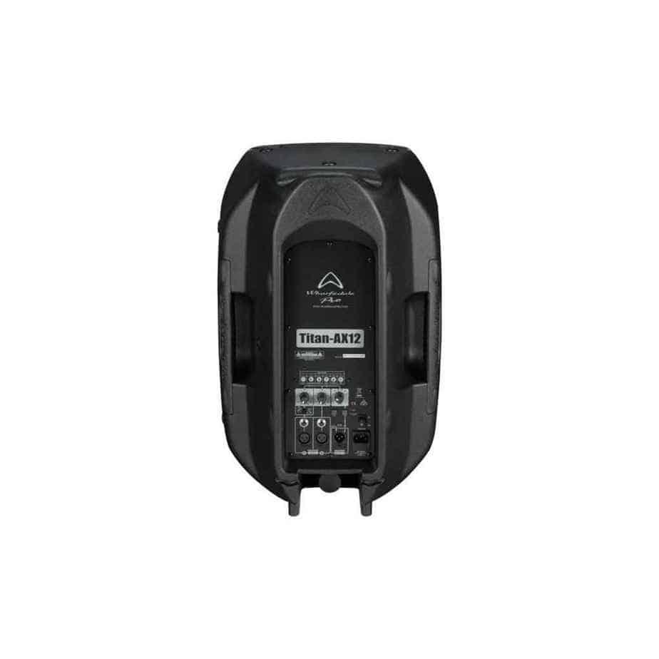 Wharfedale Pro Titan AX12 aktiv høyttaler sort sett bakfra