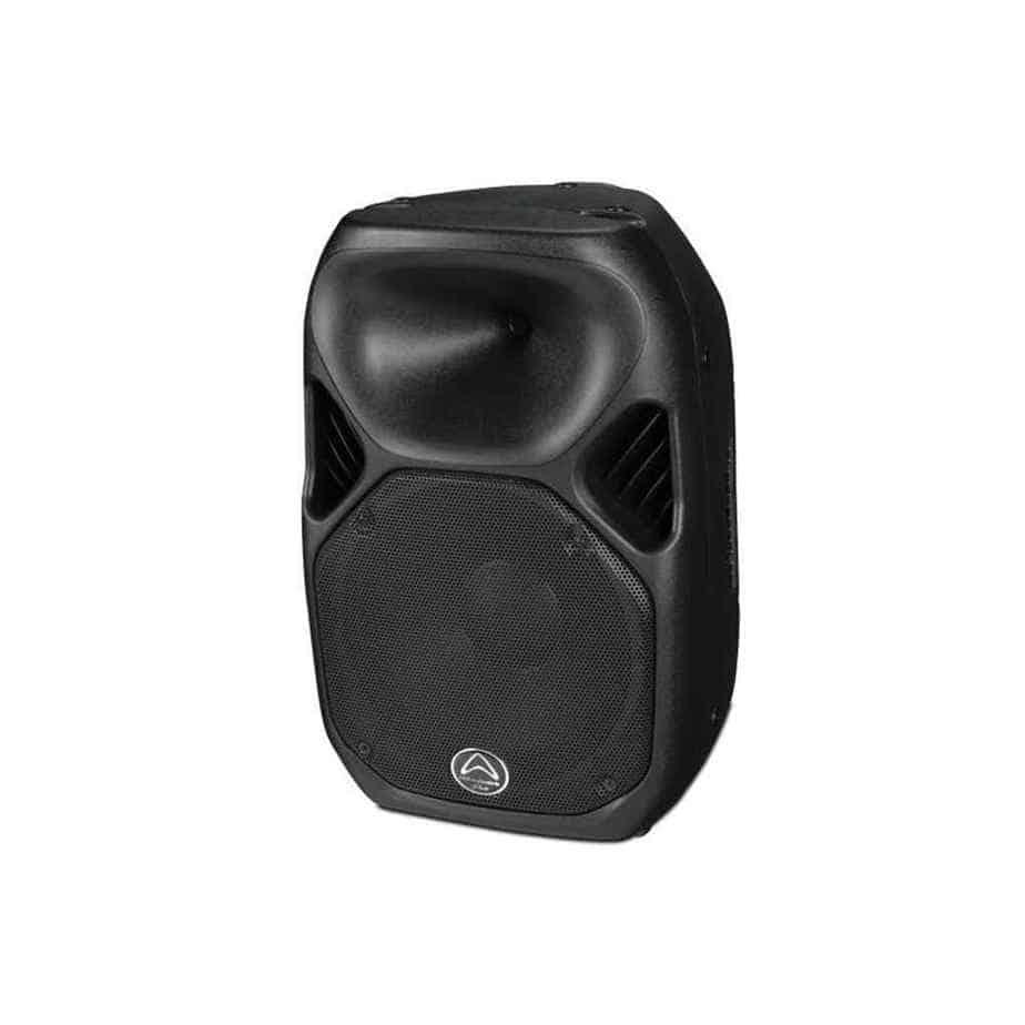 Wharfedale Pro Titan AX12 aktiv høyttaler sort sett fra siden