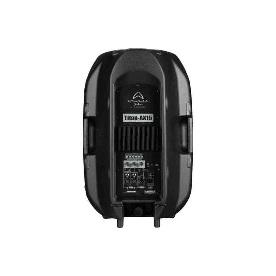 Wharfedale Pro Titan AX15 aktiv høyttaler sort sett bakfra