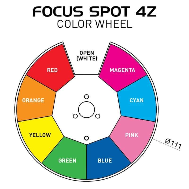 ADJ Focus Spot T4Z moving head fargehjul