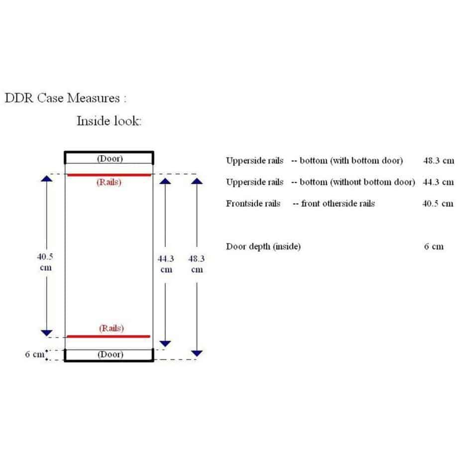 Accucase ACF SWDDR4 flightcase dimensjoner