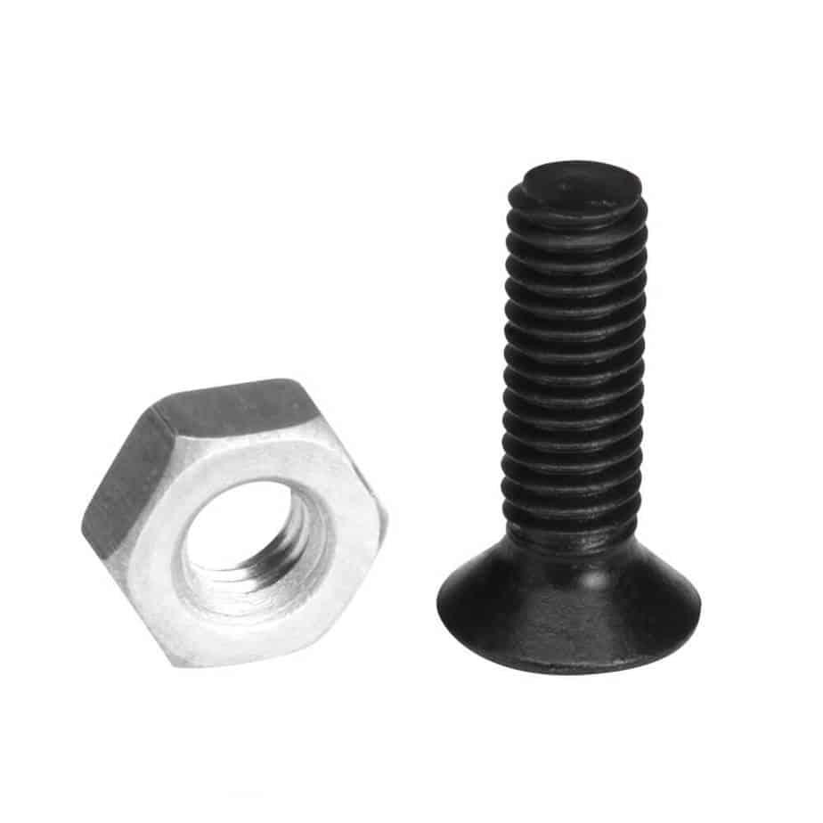Adam Hall 5420 BLK M3 10 mm skruer med senkehode og tilhørende mutter
