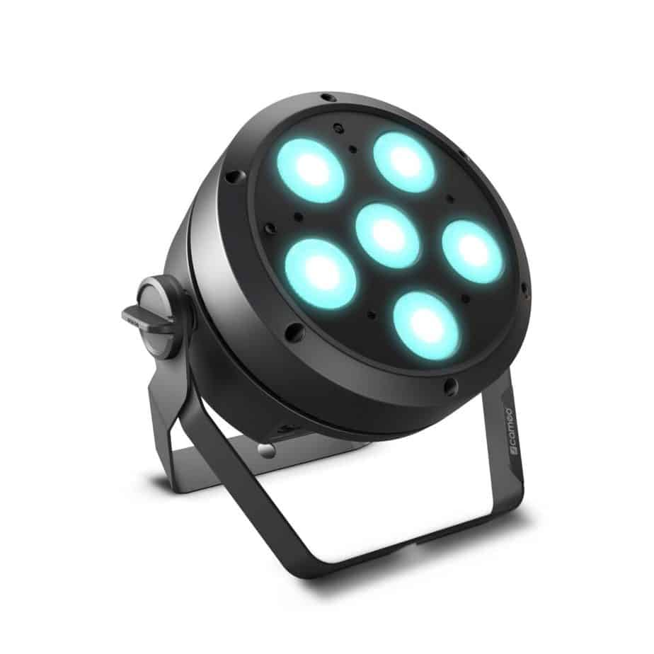 Cameo ROOT PAR 6 LED PAR-lampe sort sett forfra