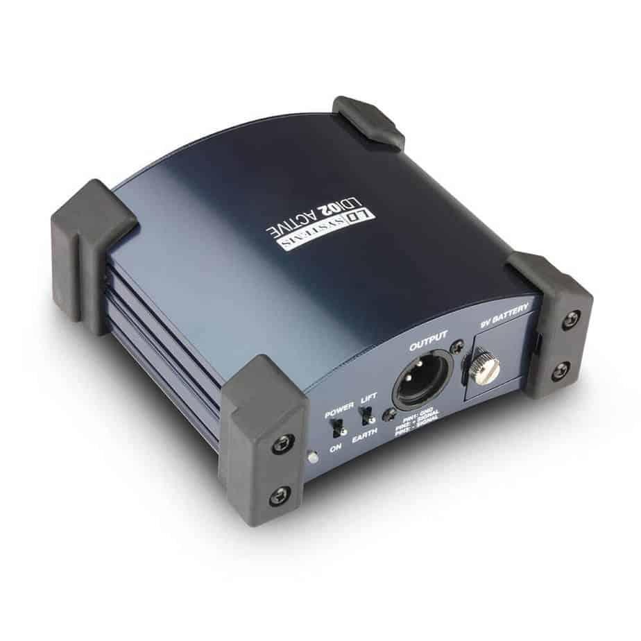 LD Systems LDI02 aktiv DI boks sett bakfra