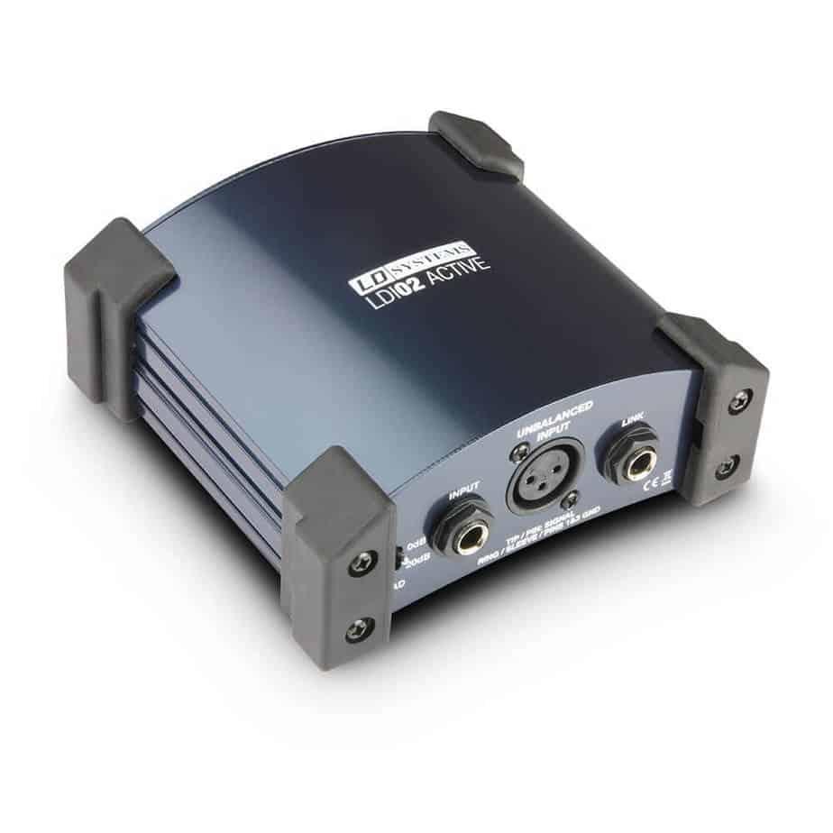 LD Systems LDI02 aktiv DI boks sett forfra