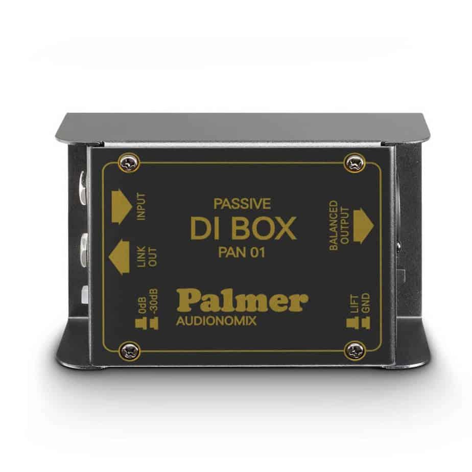 Palmer PAN 01 passiv DI boks 1 kanal sett ovenfra