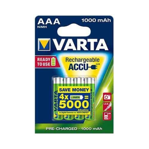 Varta 5703 oppladbare AAA batterier