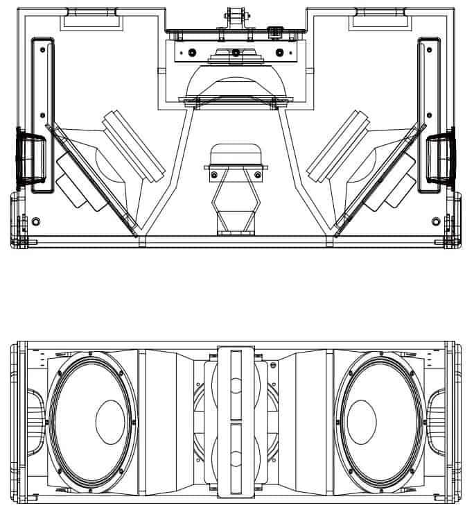 Wharfedale Pro WLA-312X line array høyttaler illustrasjon 03