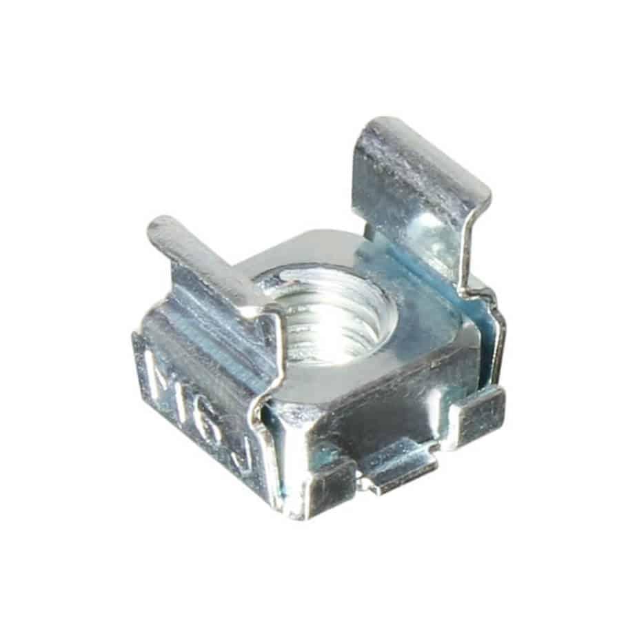 Adam Hall 5650 M6 rackmutter for 3mm cage sett forfra