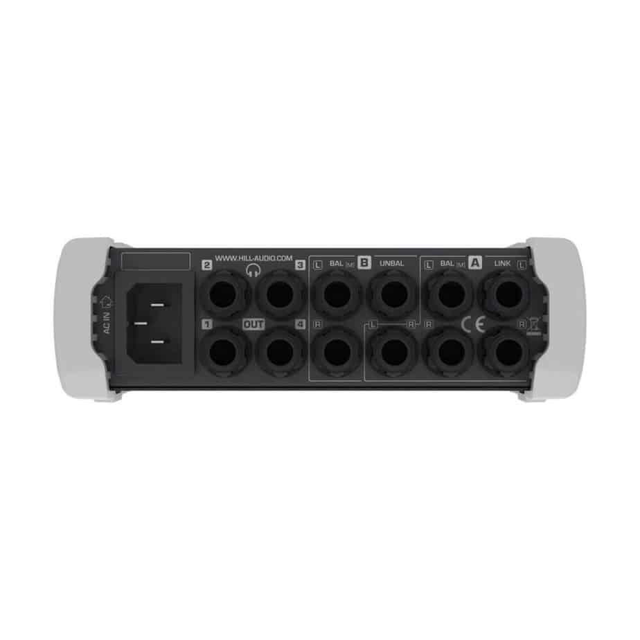 Hill Audio CHP400 hodetelefonforsterker sett bakfra