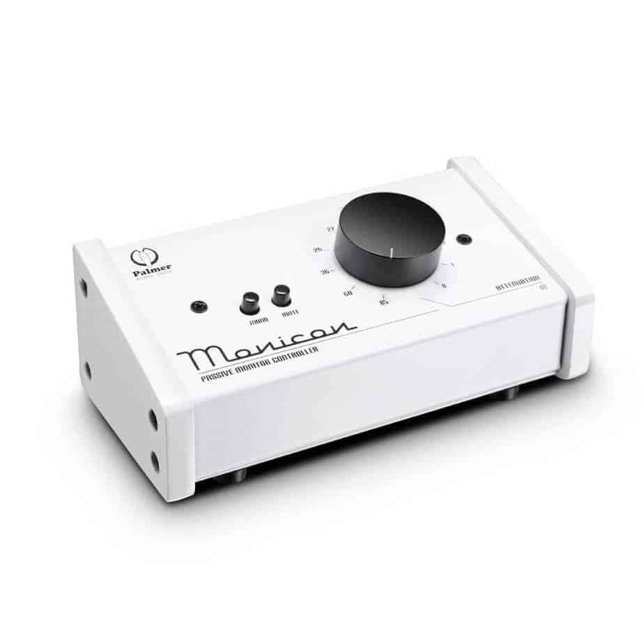 Palmer MONICONW volumkontroller hvit sett forfra