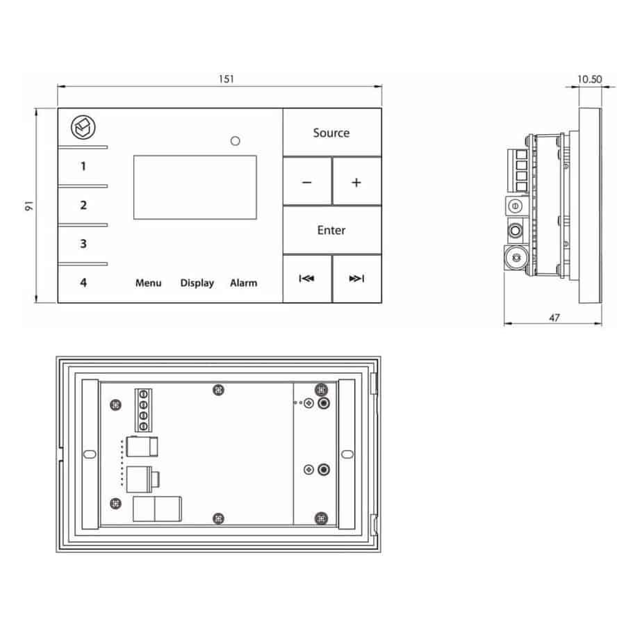 Systemline E100 veggpanel