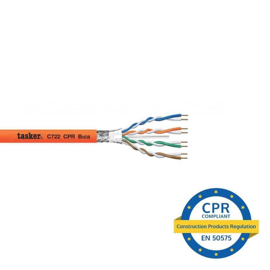 Tasker C722CPR cat 6 nettverkskabel