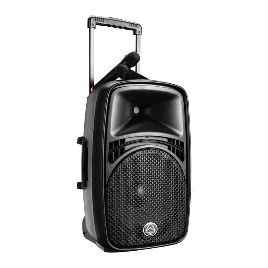Wharfedale Pro EZ Høyttaler Med Mikrofon Sett Fra Siden