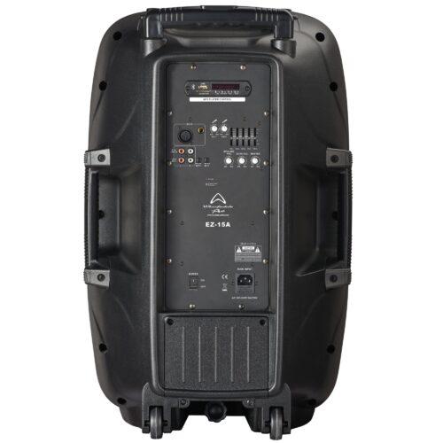 Wharfedale Pro EZ15A Høyttaler Med Mikrofon Sett Bakfra